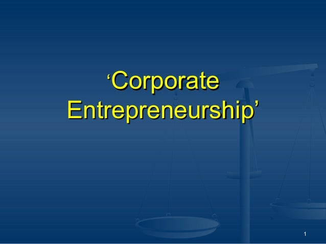 'CorporateEntrepreneurship'                    1