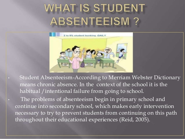 student absenteeism Teacher and student absenteeism by kalaiyarasan g and a great selection of similar used, new and collectible books available now at abebookscom.