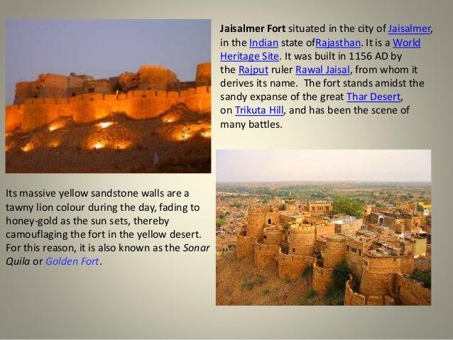 Jaisalmer fort - Rajasthan Slide 3