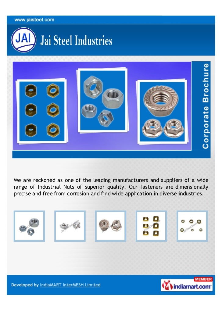 We are reckoned as one of the leading manufacturers and suppliers of a widerange of Industrial Nuts of superior quality. O...