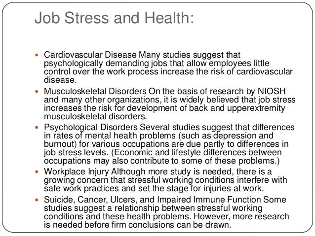 Gender Difference in Occupational Stress