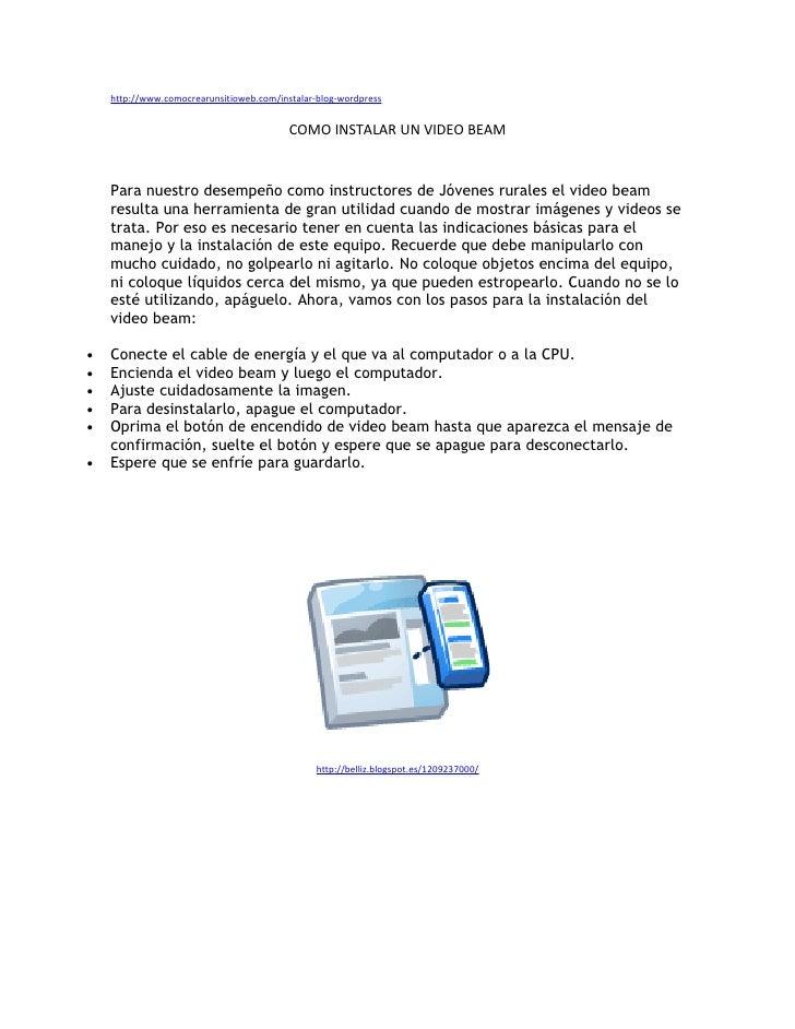 http://www.comocrearunsitioweb.com/instalar-blog-wordpress                                             COMO INSTALAR UN VI...