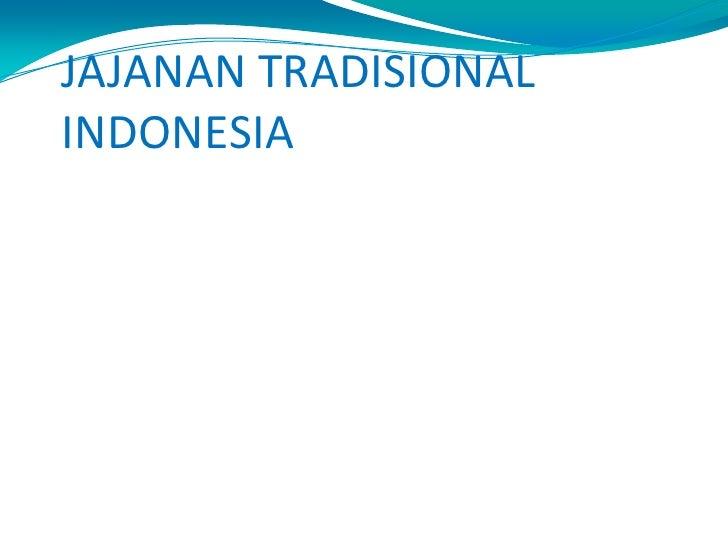 Jajanan tradisional indonesia