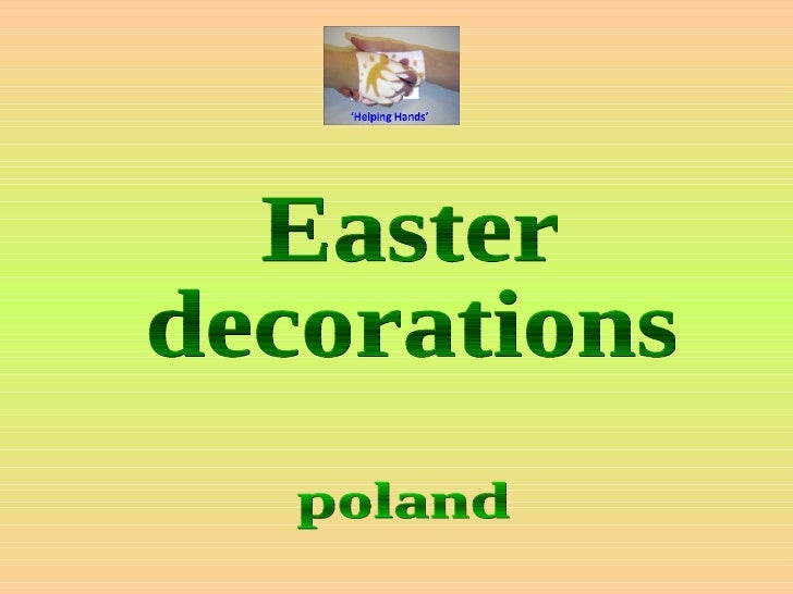 Easter  decorations poland