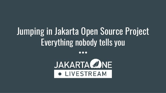 Jumping in Jakarta Open Source Project Everything nobody tells you