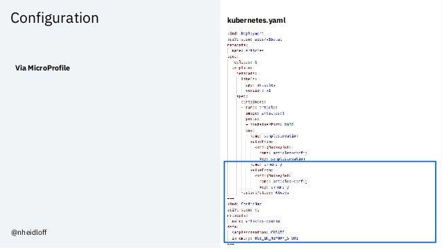 Configuration Via MicroProfile kubernetes.yaml @nheidloff