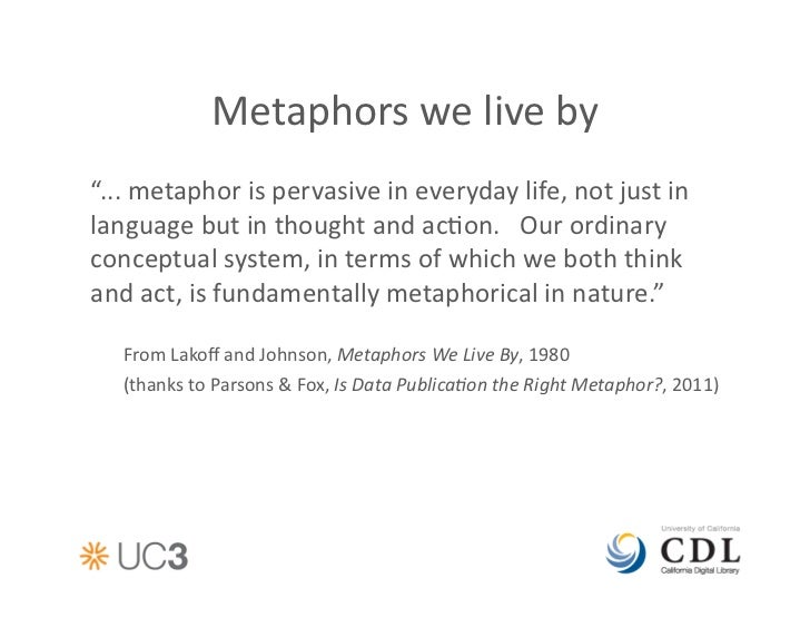 Metaphors Of Everyday Life Many Lives >> New Metaphors Data Papers And Data Citations