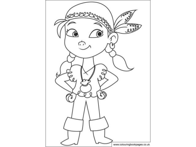 Jake and the neverland pirates Colouring Pages and Kids