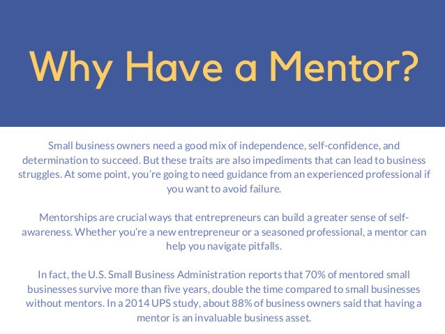 Jake Croman   5 Ways Small Biz Owners Can Find a Great Mentor Slide 2