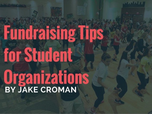 Jake Croman | Fundraising Tips for Student Organizations
