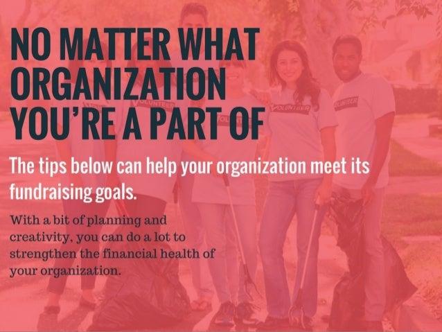 Jake Croman | Fundraising Tips for Student Organizations Slide 3