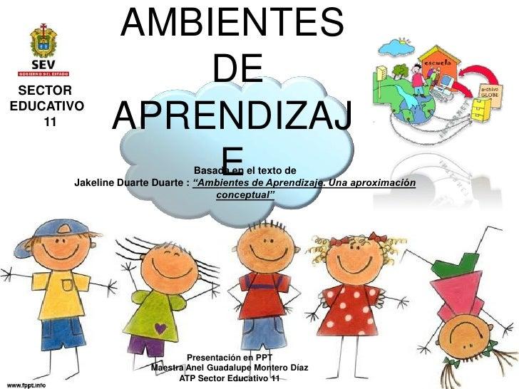 Jakeline Duarte Ambientes De Aprendizaje