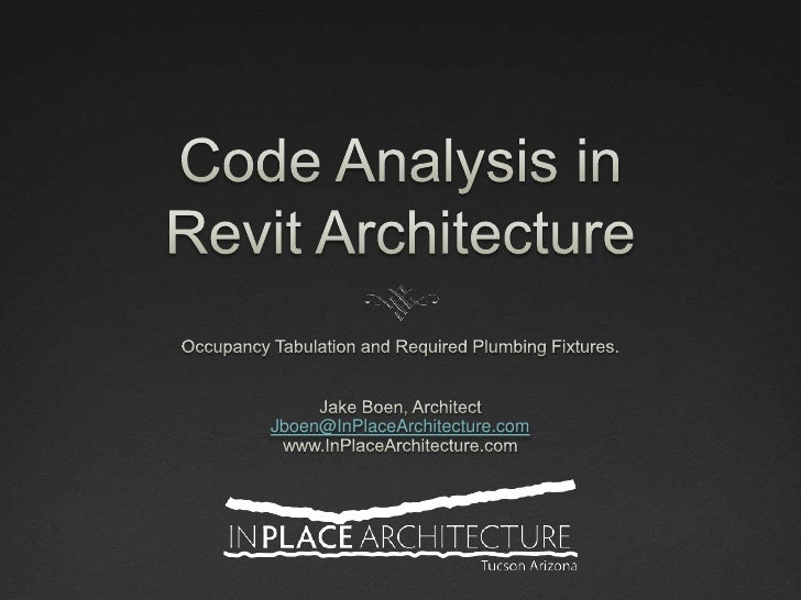 Code Analysis in Revit Architecture