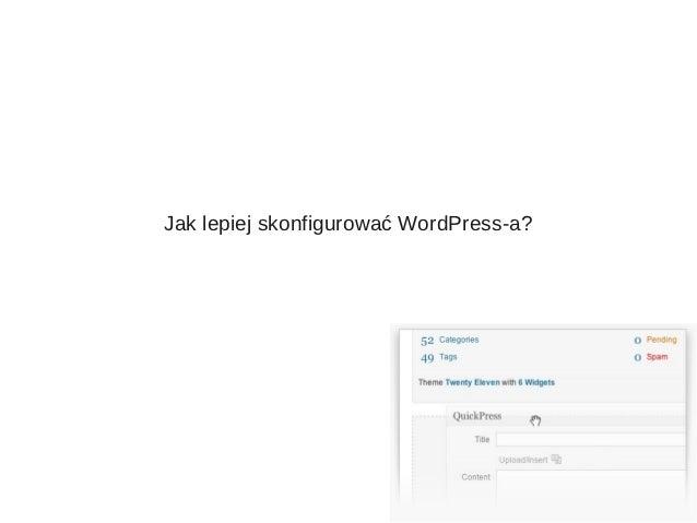 Jak lepiej skonfigurować WordPress-a?