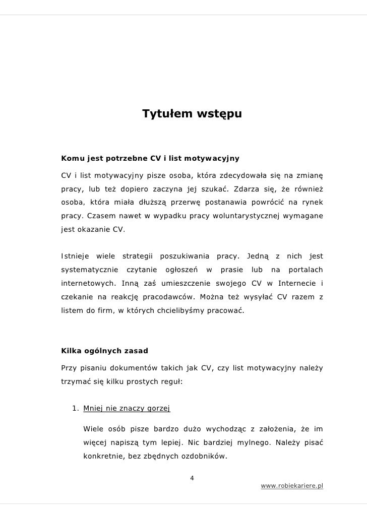 Jak Napisać Cv I List Motywacyjny
