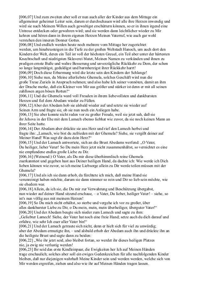 [006,07] Und zum zweiten aber soll er nun auch aller der Kinder aus dem Mittage einallgemeiner geheimer Leiter sein, darum...