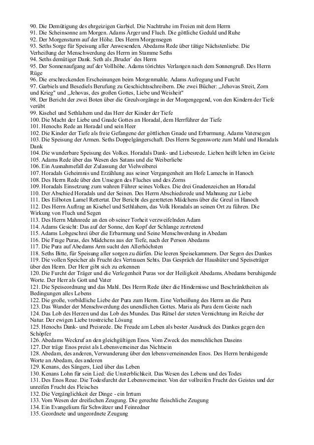 90. Die Demütigung des ehrgeizigen Garbiel. Die Nachtruhe im Freien mit dem Herrn91. Die Scheinsonne am Morgen. Adams Ärge...