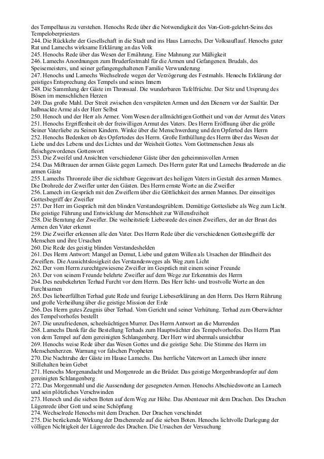 des Tempelhaus zu verstehen. Henochs Rede über die Notwendigkeit des Von-Gott-gelehrt-Seins desTempeloberpriesters244. Die...