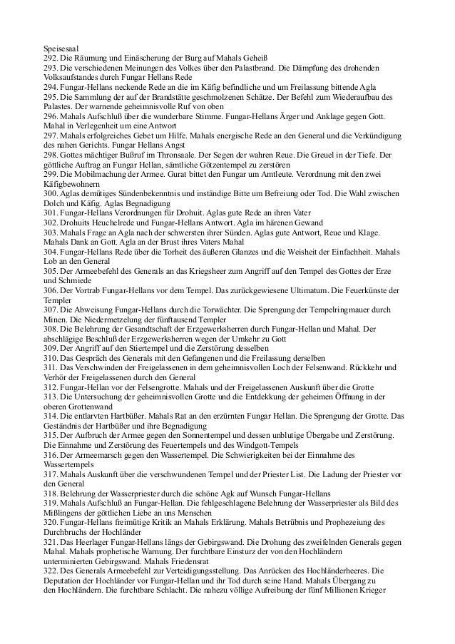 Speisesaal292. Die Räumung und Einäscherung der Burg auf Mahals Geheiß293. Die verschiedenen Meinungen des Volkes über den...