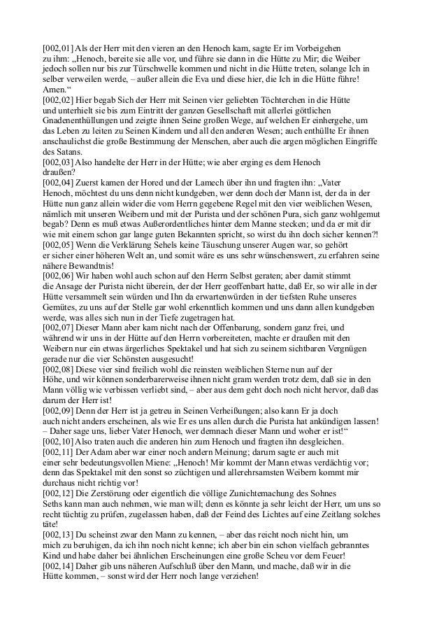 """[002,01] Als der Herr mit den vieren an den Henoch kam, sagte Er im Vorbeigehenzu ihm: """"Henoch, bereite sie alle vor, und ..."""