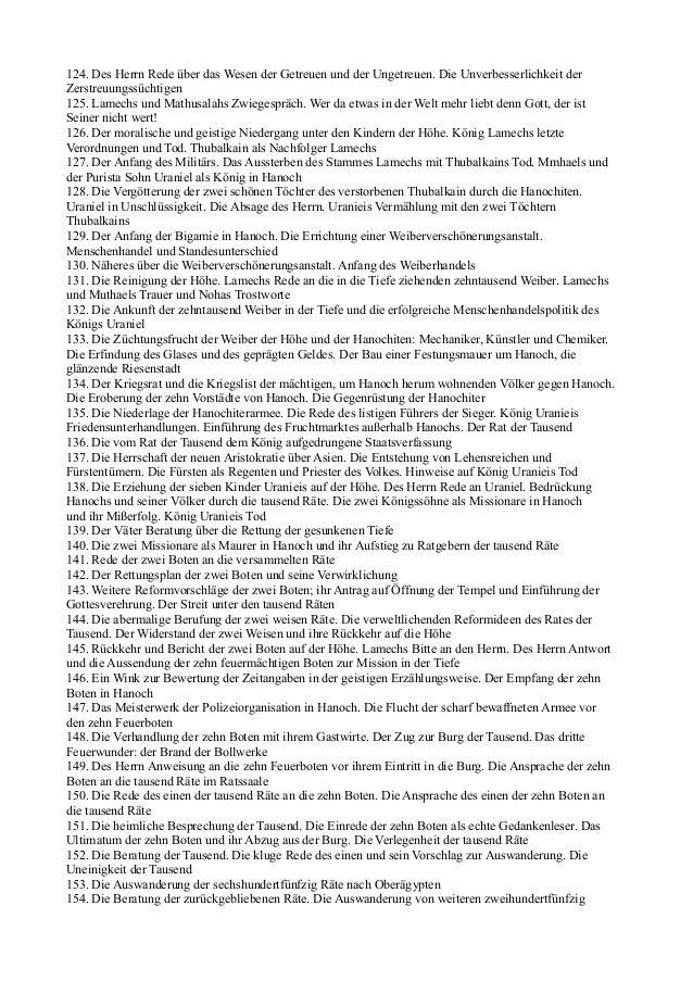 124. Des Herrn Rede über das Wesen der Getreuen und der Ungetreuen. Die Unverbesserlichkeit derZerstreuungssüchtigen125. L...