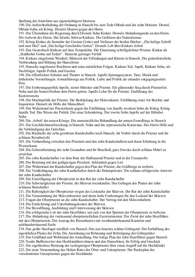 Spaltung der Ansichten aus eigensüchtigem Interesse190. Die Aufrechterhaltung der Ordnung in Hanoch bis zum Tode Ohlads un...