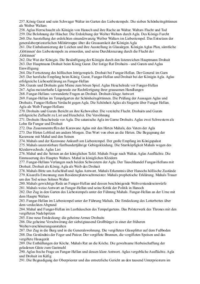 257. König Gurat und sein Schwager Waltar im Garten des Liebestempels. Die sieben Schönheitsgöttinnenals Weiber Waltars258...