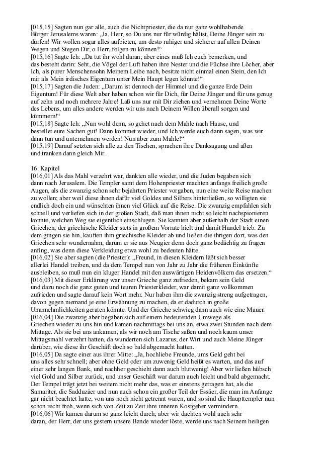 """[015,15] Sagten nun gar alle, auch die Nichtpriester, die da nur ganz wohlhabendeBürger Jerusalems waren: """"Ja, Herr, so Du..."""
