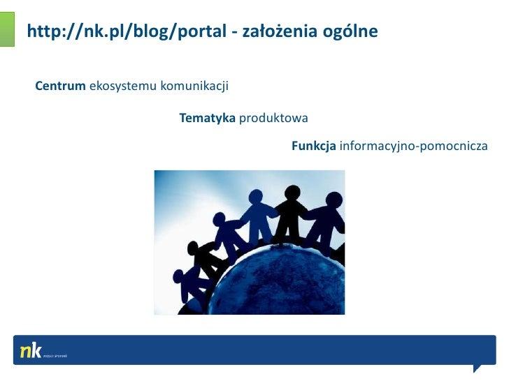 http://nk.pl/blog/portal - założenia ogólne <br />Centrum ekosystemu komunikacji <br />Tematyka produktowa<br />Funkcja in...
