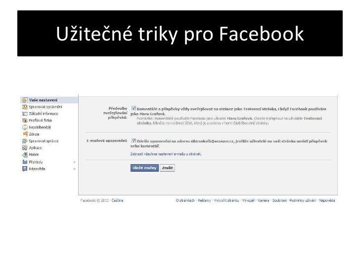 Užitečné triky pro Facebook<br />