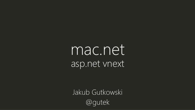 mac.net asp.net vnext