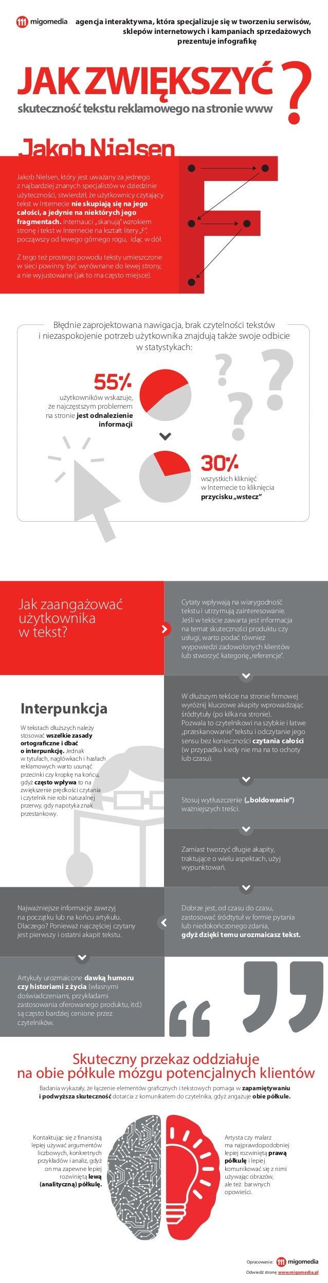 ? ? Jakob Nielsen, który jest uważany za jednego z najbardziej znanych specjalistów w dziedzinie użyteczności, stwierdził,...