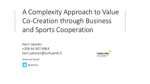 A Complexity Approach To Value Co-Creation Through Business And Sport…