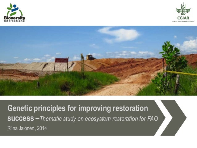 Genetic principles for improving restoration success –Thematic study on ecosystem restoration for FAO Riina Jalonen, 2014