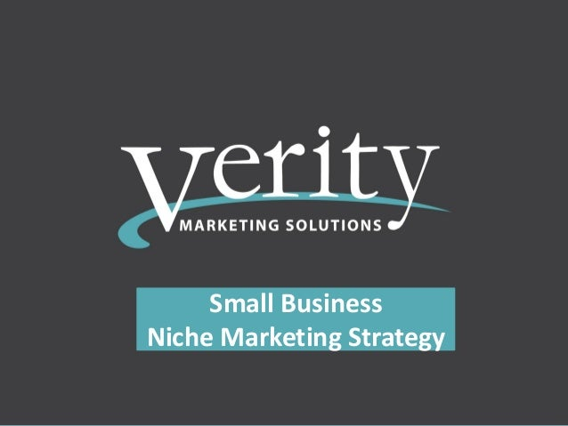 Small Business  Niche Marketing Strategy