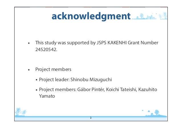 Perception of prosodic cues by Japanese EFL learners Slide 2