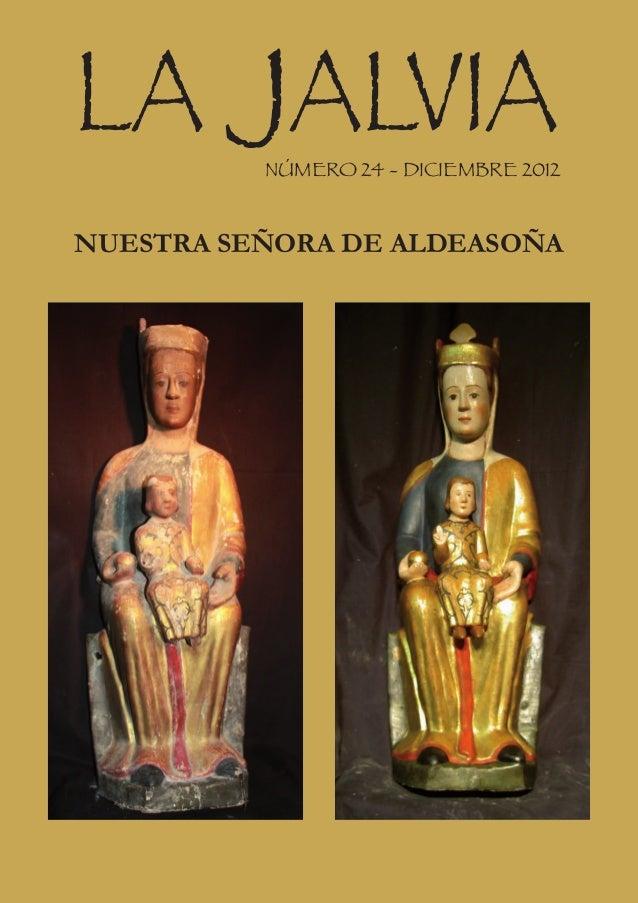 LA JALVIA NÚMERO 24 - DICIEMBRE 2012NUESTRA SEÑORA DE ALDEASOÑA