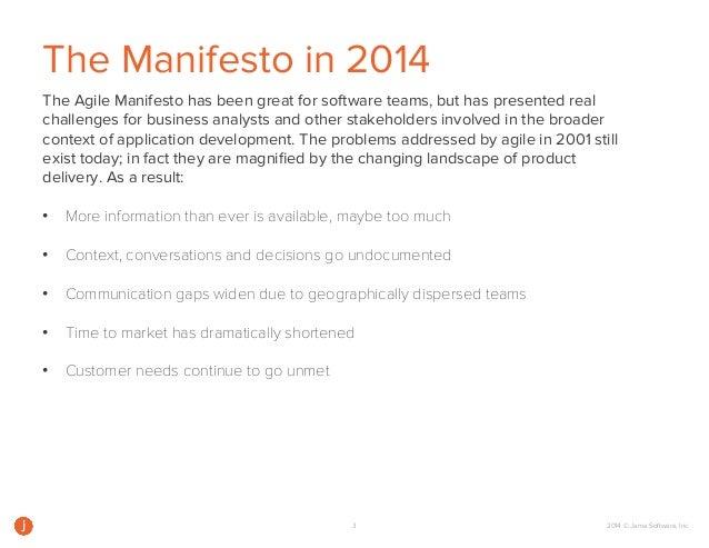 A Modern Take on the Agile Manifesto Slide 3