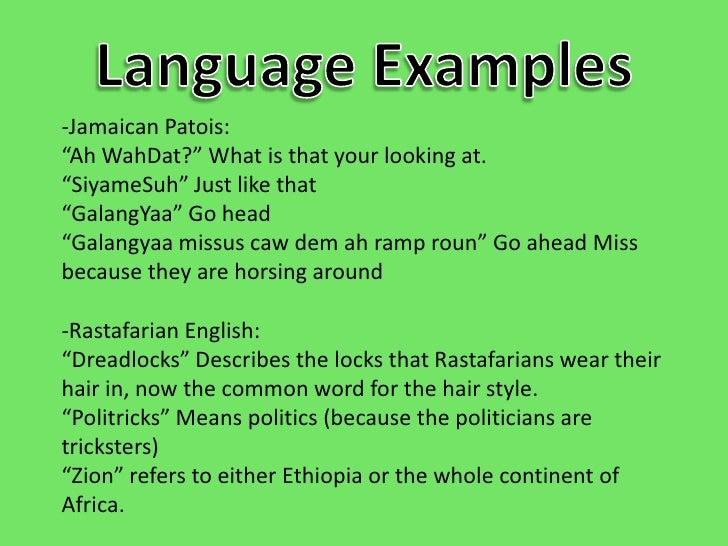 language on jamaica