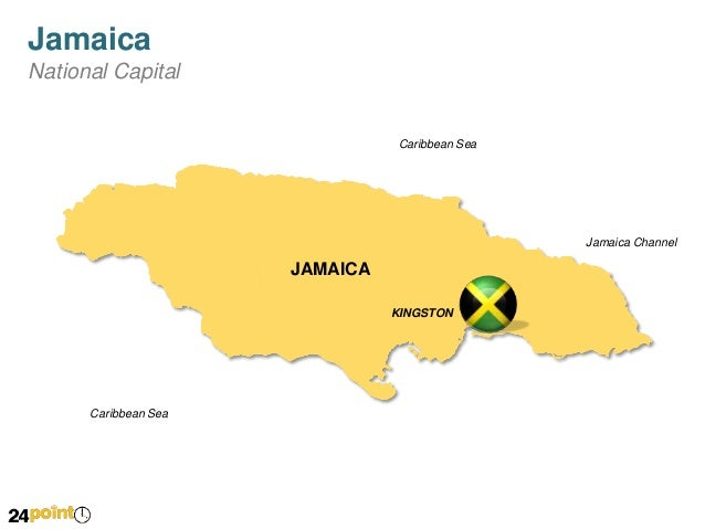 Jamaica Map - Jamaica map caribbean sea