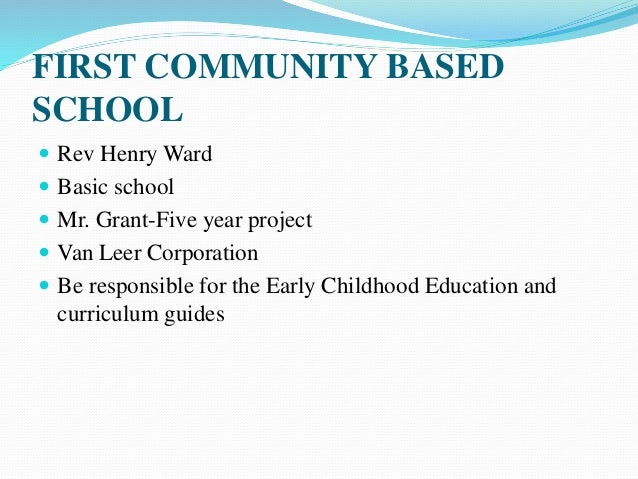 henry ward pioneer of early childhood
