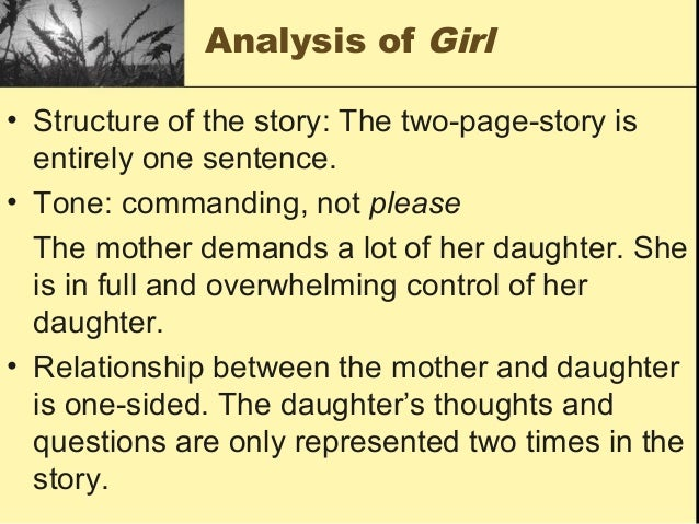 jaimaica kincaid s girl Rhetorical analysis of kincaid's in jamaica kincaid's girl, she lists the domestic duties that females are.