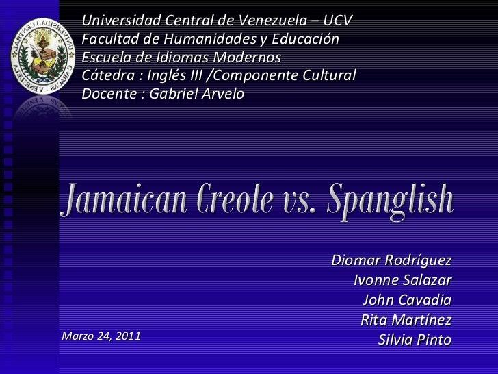 Universidad Central de Venezuela – UCV Facultad de Humanidades y Educación Escuela de Idiomas Modernos Cátedra : Inglés II...