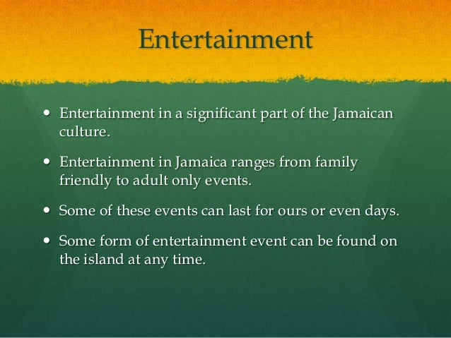 culture of jamaica Jamaican cuisine includes a mixture of cooking techniques, flavours, spices and influences from the indigenous people on the island of jamaica, and the spanish, irish, british, africans, indian and chinese who have inhabited the island.