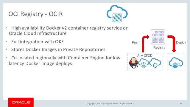 Managing Containers on Oracle's Cloud Infrastructure