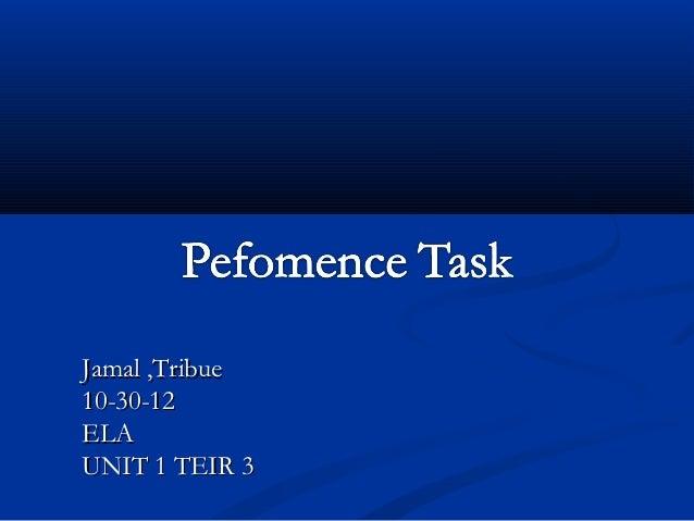 Jamal ,Tribue10-30-12ELAUNIT 1 TEIR 3