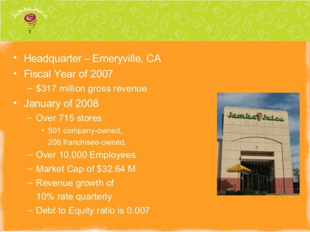 jamba juice competitive analysis Swot analysis strategy promotions conclusion 1995 juice club officially changed its name to jamba juice and started franchising its competition from smoothie king.
