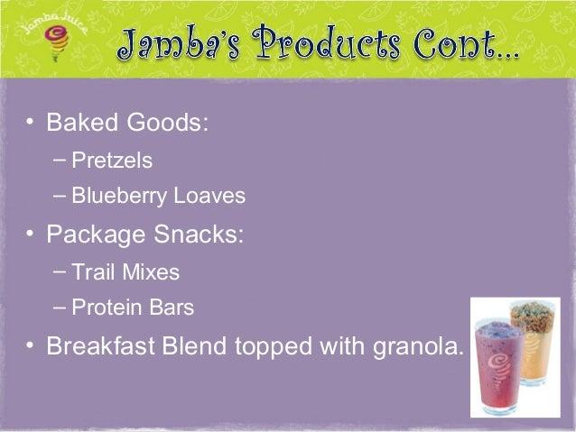 Jamba juice competitive analysis