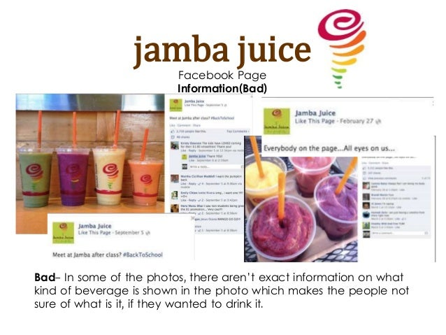 jamba juice external analysis Environment analysis for boost juice bar summary 1  introduction our product is jamba juice and our  proton's external environment analysis contents.