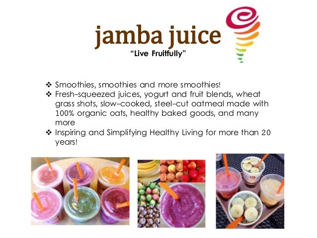 jamba juice swot Interview question for baristawhat are your 3 strengths and weaknesses.